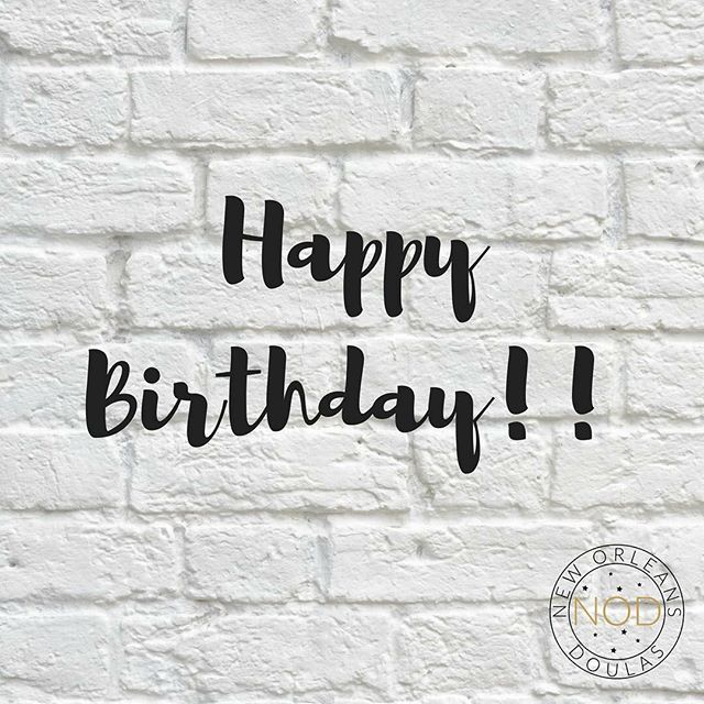 Last week was Khayriyyah's birthday!! I forgot to post, so join me today is wishing her a happy belated birthday!  #NewOrleansDoulas #HappyBirthday #Doula