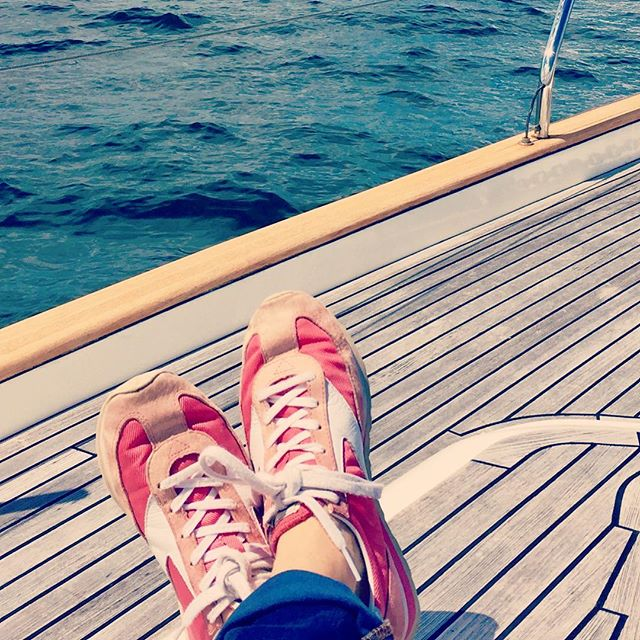 Excited to be back in the old sailing sneakers and headed to first ever #Moody #sailboat rendezvous, West Coast Chapter! #fridayvibes #sailing #sailingseason #boat #friday #adventure