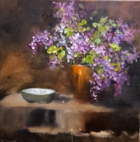 Lilac Still Life Stage 2