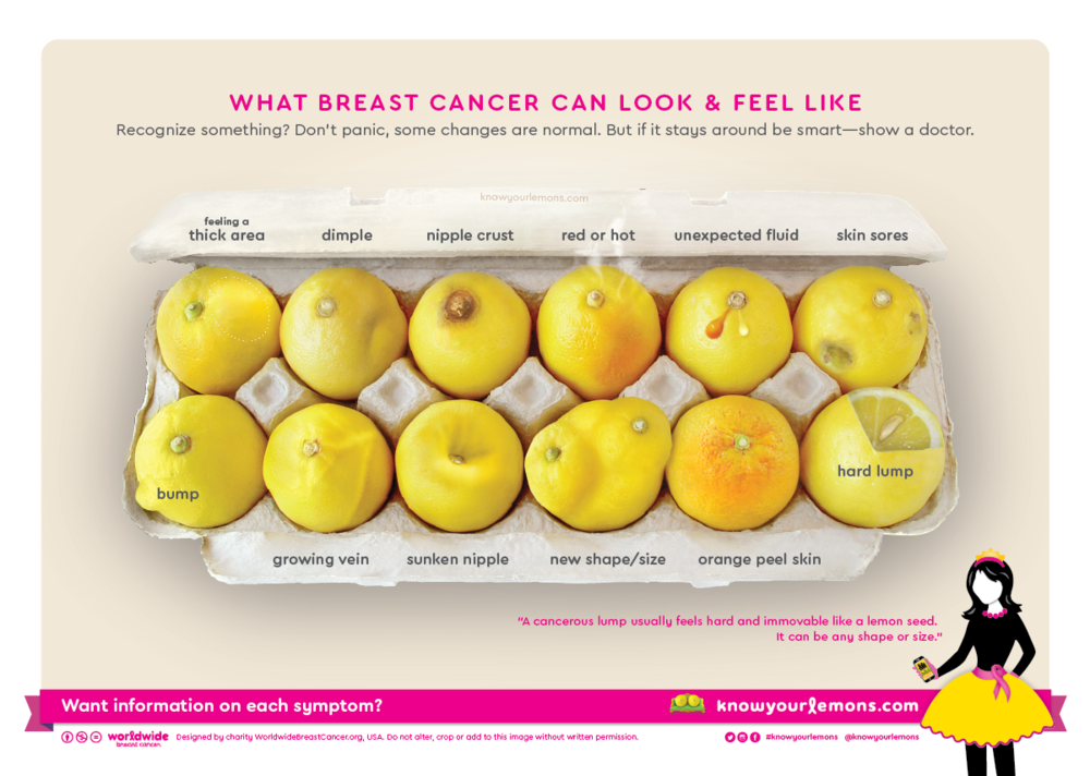 Photo by Worldwide Breast Cancer #KnowYourLemons