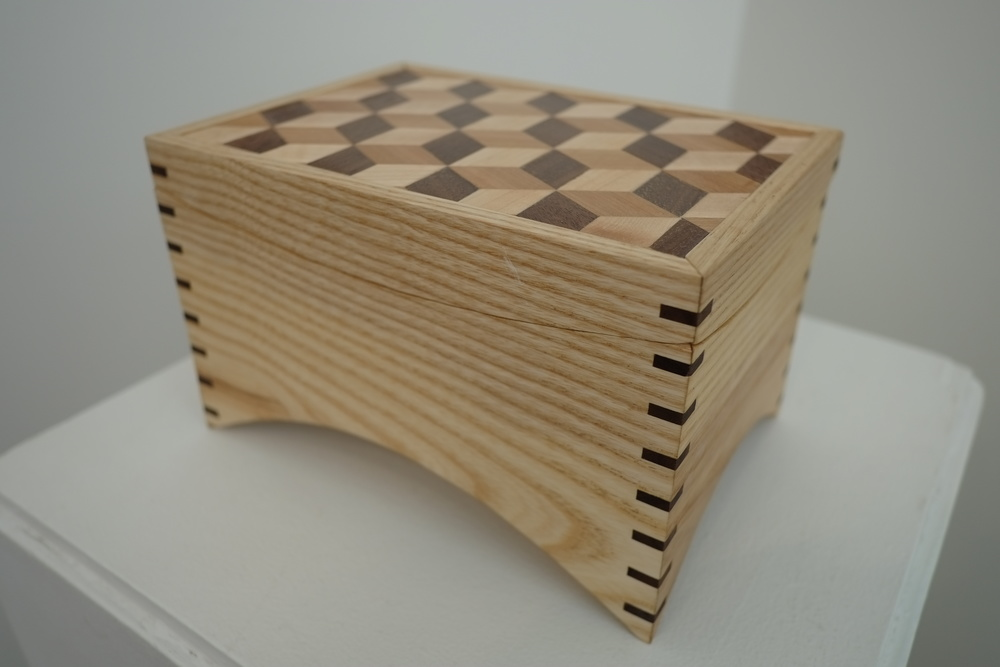 Tumbling Blocks (ash, walnut, cherry maple) - Isabella Collins