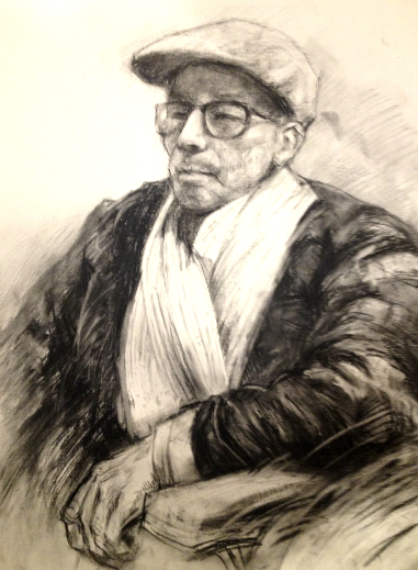 Grandfather (charcoal) - Julie Peng