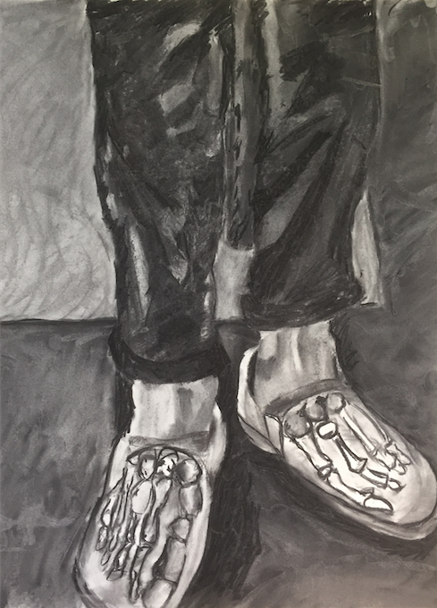 Anatomy (charcoal) - Peter Mankiw