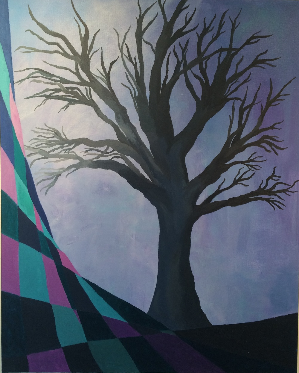 Abstract Tree (acrylic) - Audrey Kirwan