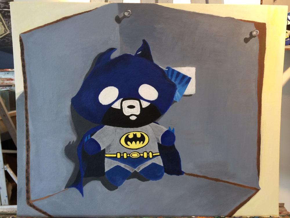 Batman Plush (acrylic) - Audrey Kirwan