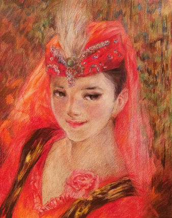 Traditional Dancer (colored pencil) - Julie Peng