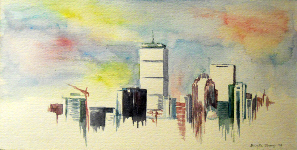 Bawston (watercolor) - Michelle Zhang
