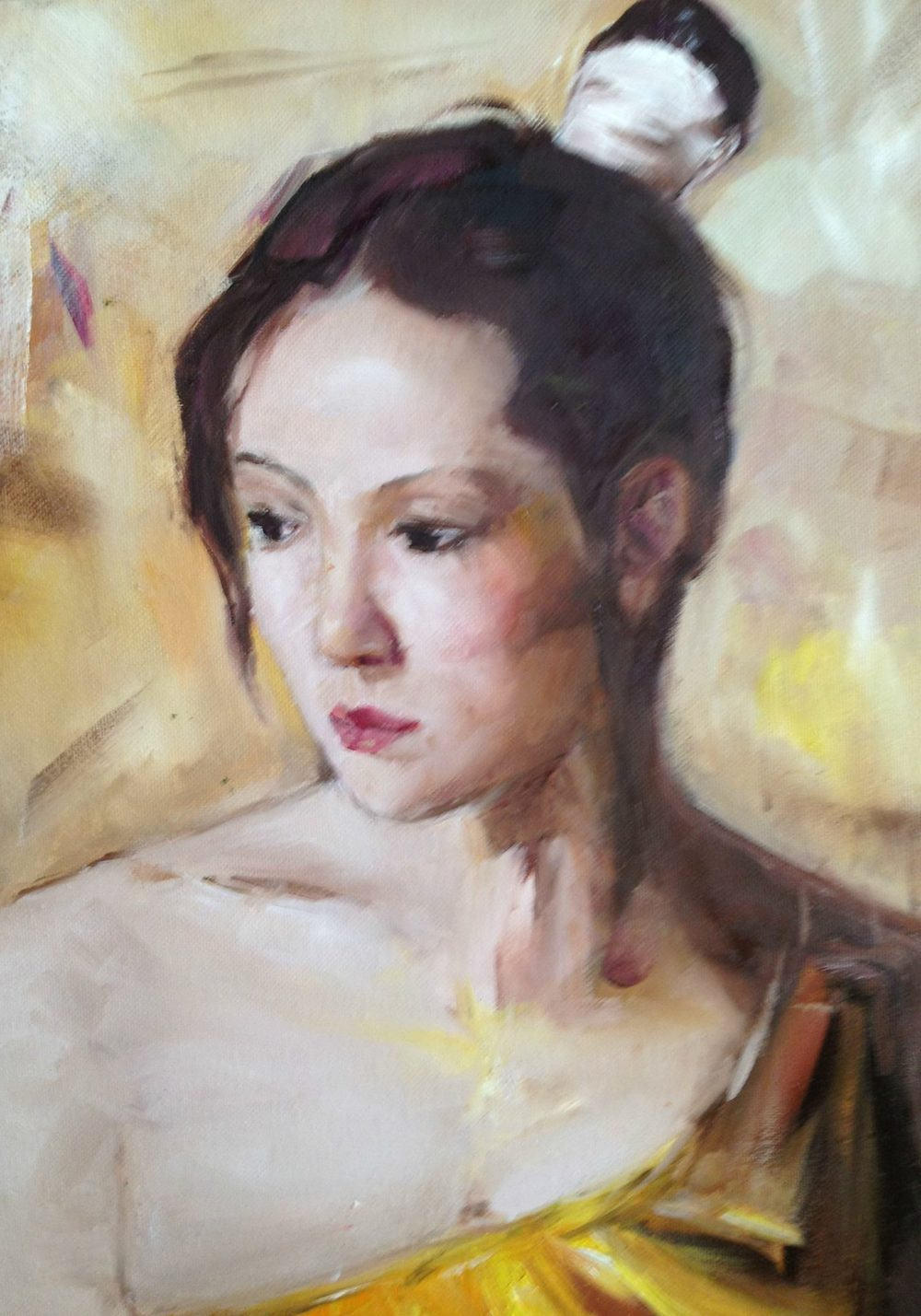 Pensive (oil) - Julie Peng