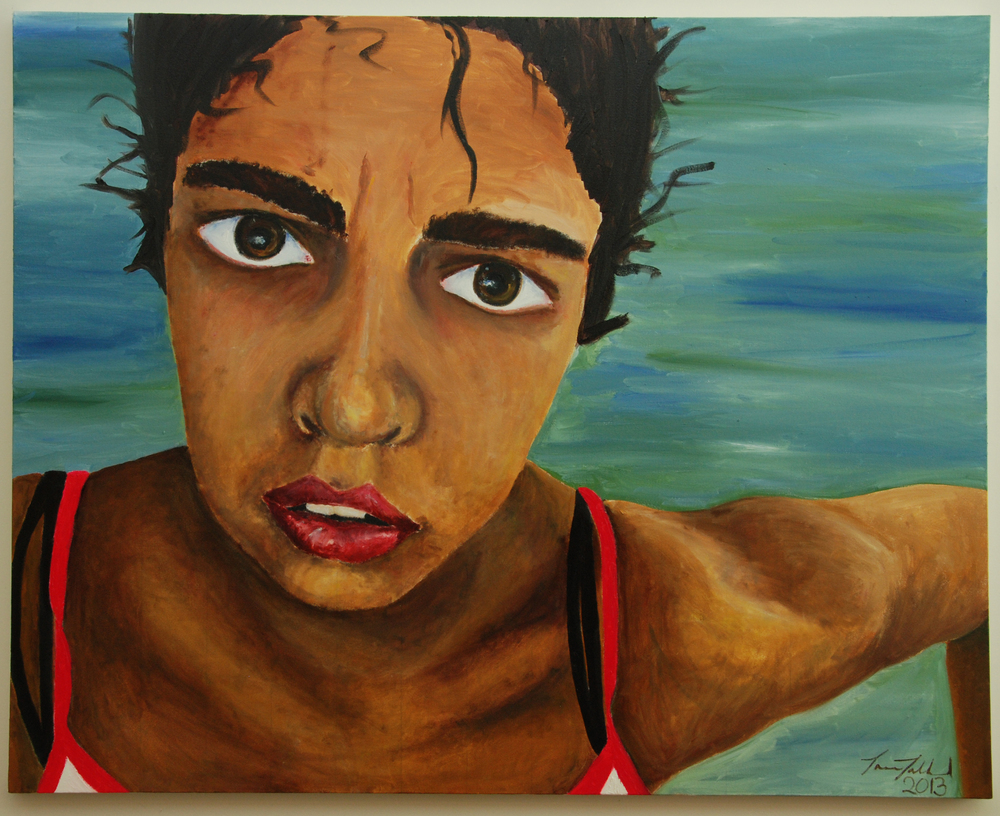Self Portrait (acrylic) - Tara Talland