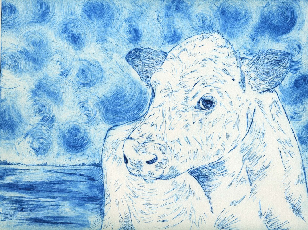 Cow (printmaking) - Sandy Li