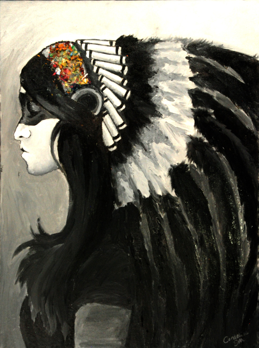 Headdress (acrylic) - Dilly Sanborn-Marsh
