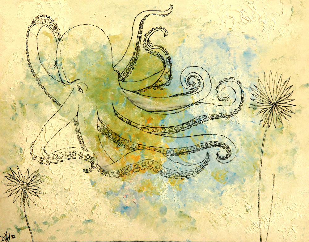 Octopus's Garden (watercolor, ink) - Dilly Sanborn-Marsh