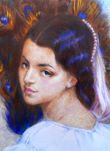 Pavonia (colored pencil) - Julie Peng