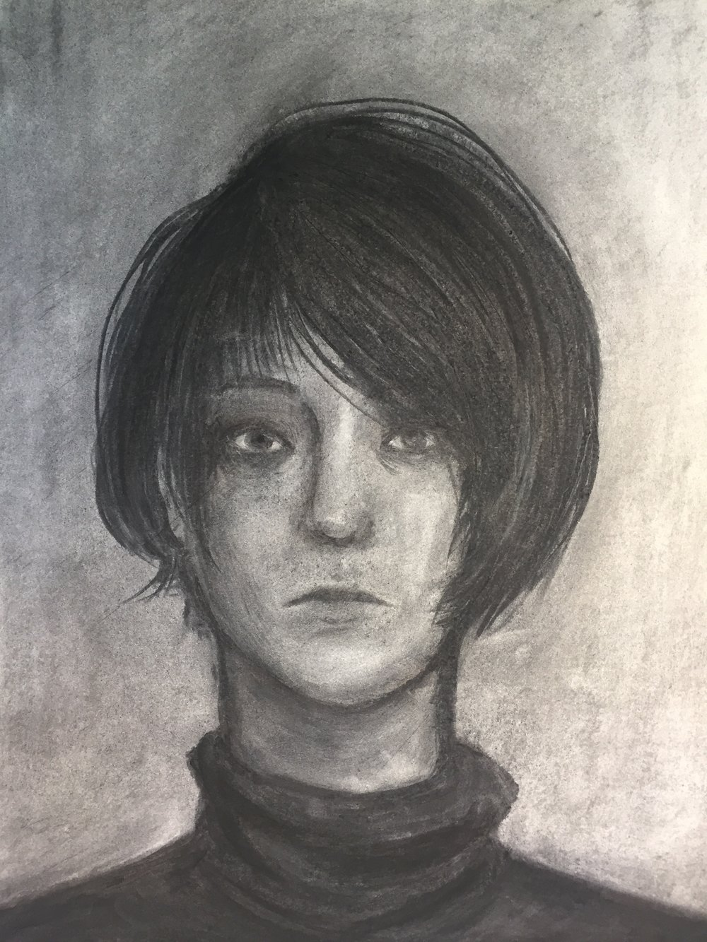 Self-Portrait (charcoal) - Lana Tilke