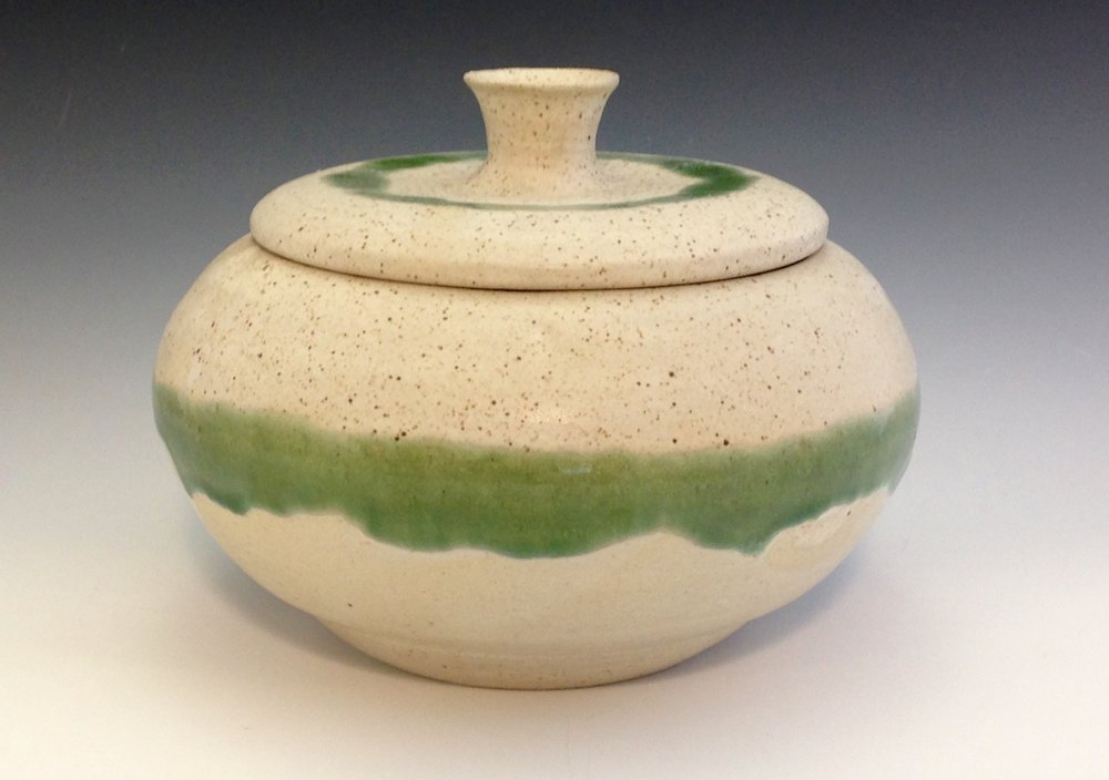 "Wide Jar (porcelain - 8"" x 8"" x 6"") - Alex Evenchik"