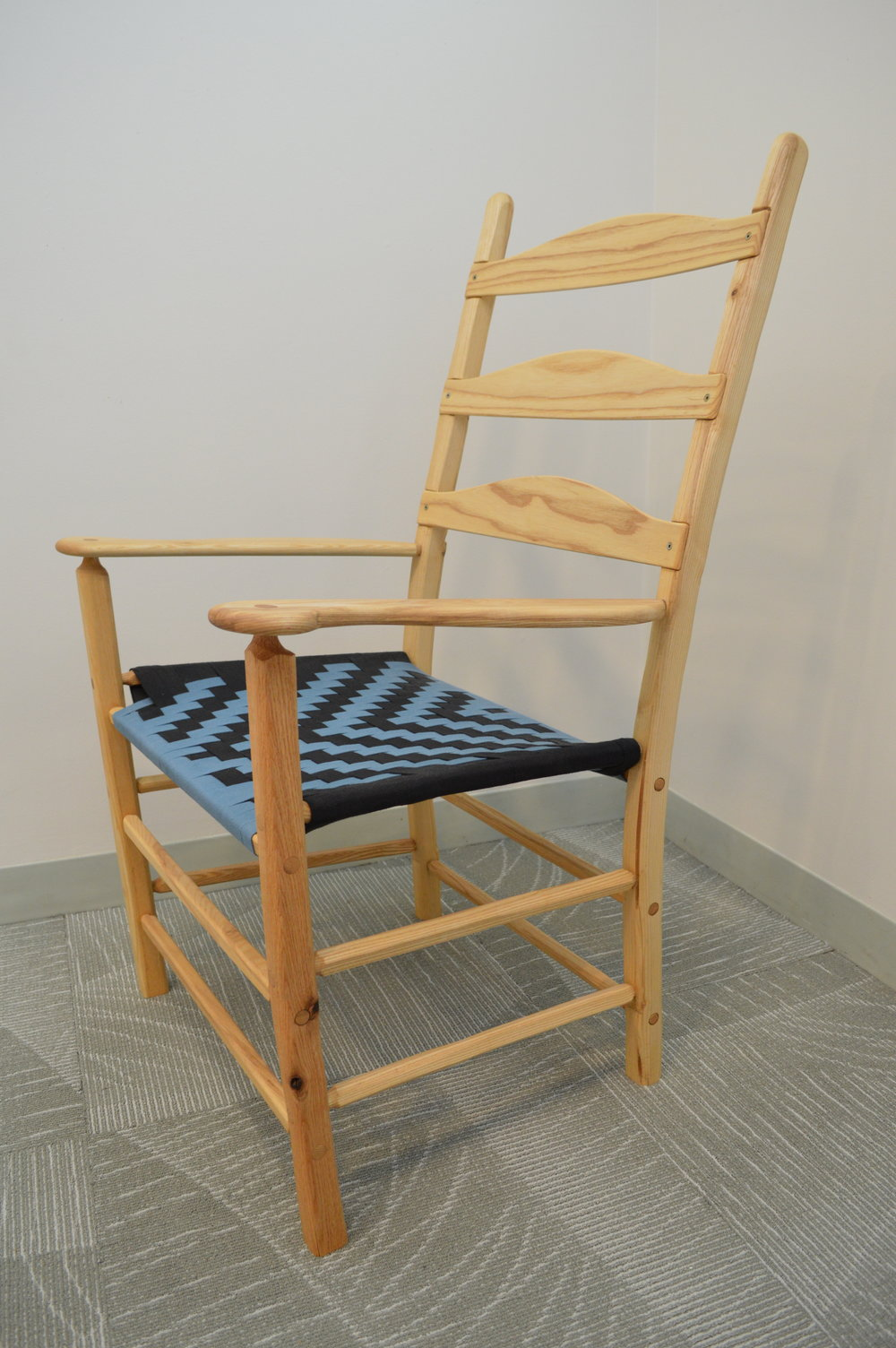 Elder's Chair (woodworking - 19'' x 23'' x 44'') (Part Two) - James McCarey