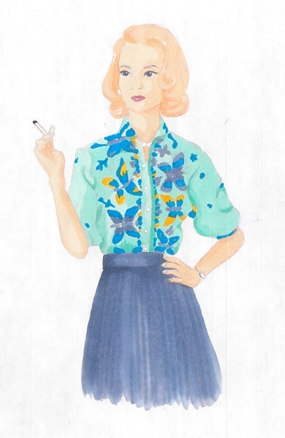Betty Draper (marker) - Katherine Whitaker