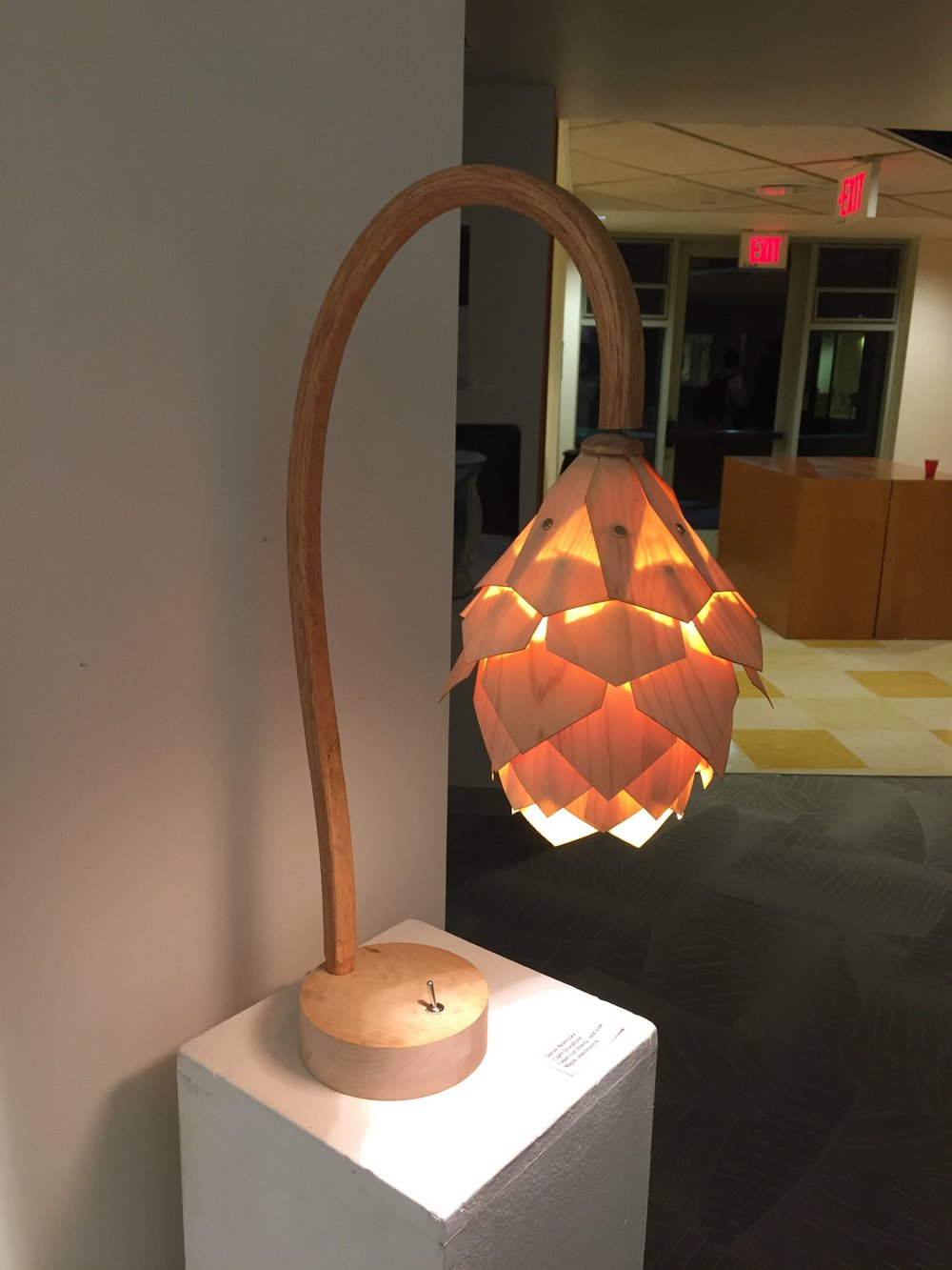 Pinecone Lamp (P1) (Woodworking) - Danny Noenickx