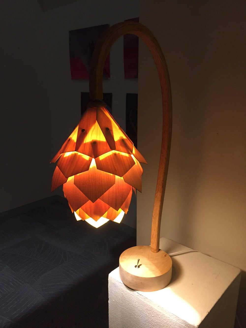 Pinecone Lamp (P2) (Woodworking) - Danny Noenickx