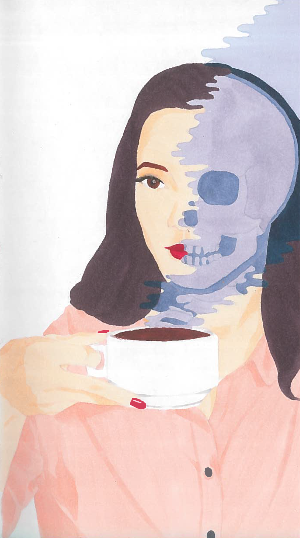 Ghost Coffee (marker) - Kate Whitaker