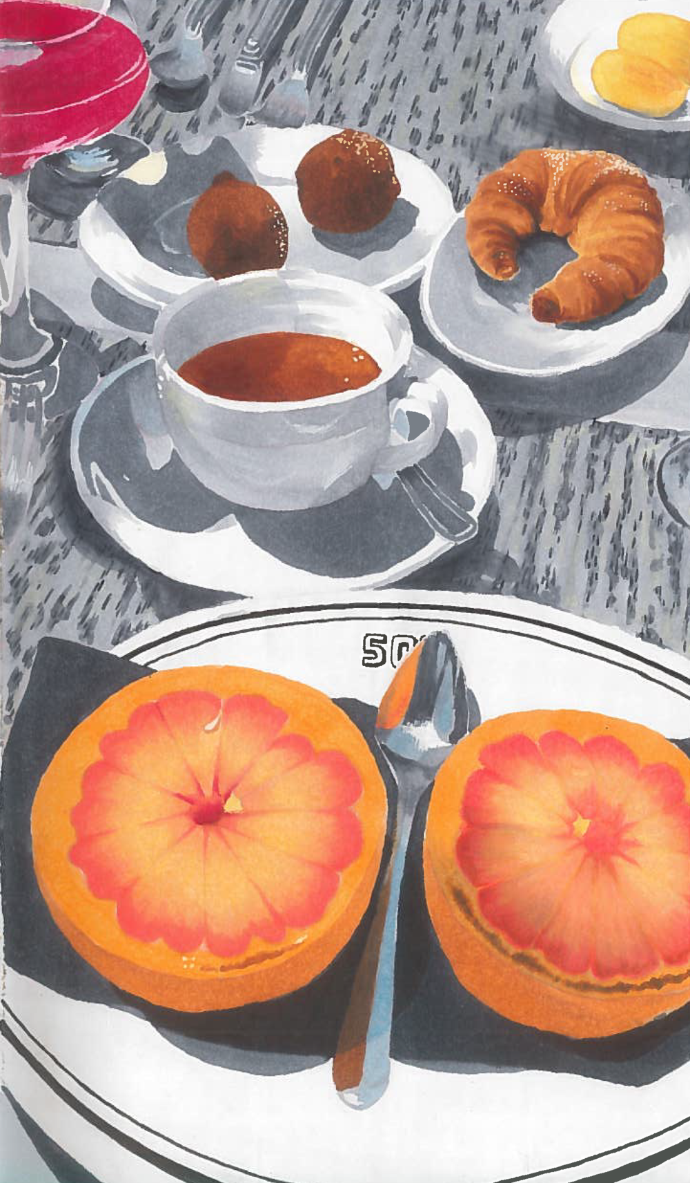 Brunch (marker) - Kate Whitaker