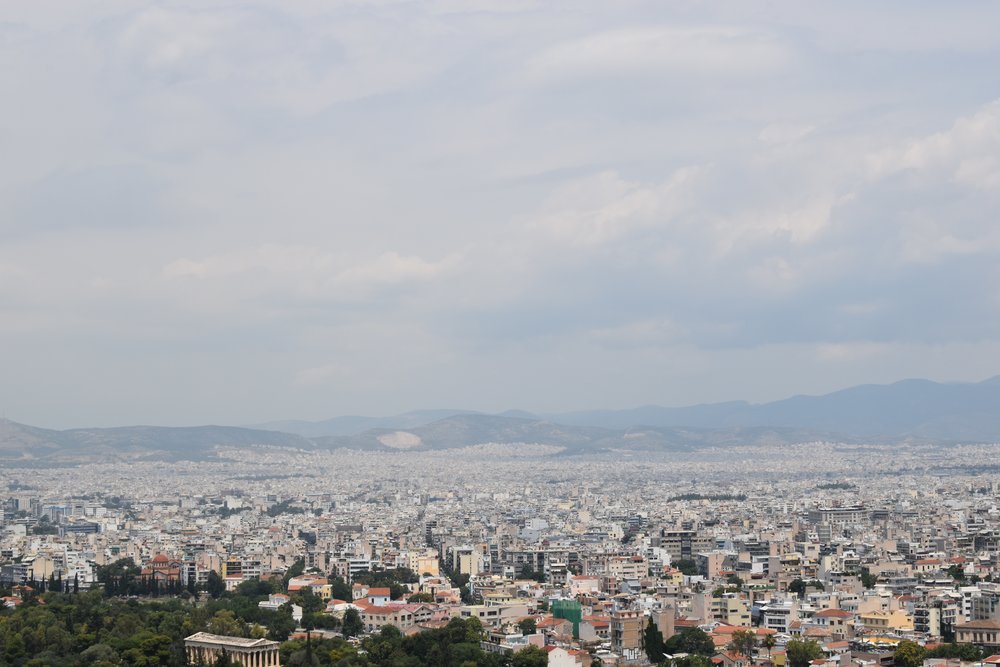 Clouds Over Athens - Klara Kuemmerle