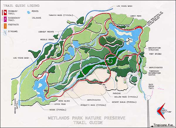 Clark County Wetlands Park Map