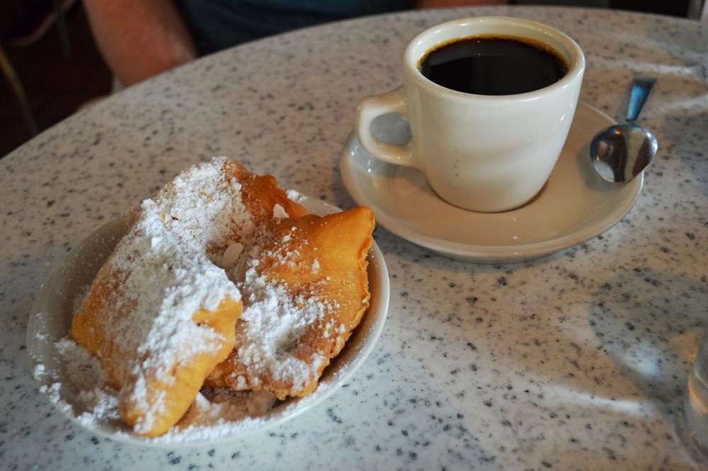Coffee and Sugar Beignet at Cafe Du Monde