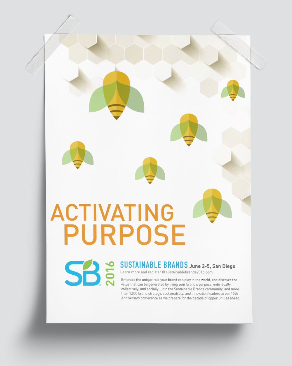 SB16 Activating Purpose poster / Client: Sustainable Brands (unused) / Agency: Citizen Group