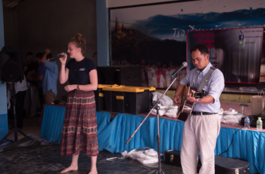 - Abigail got to sing Break Every Chain at our village outreach with ZOE's worship leader P' Detch.