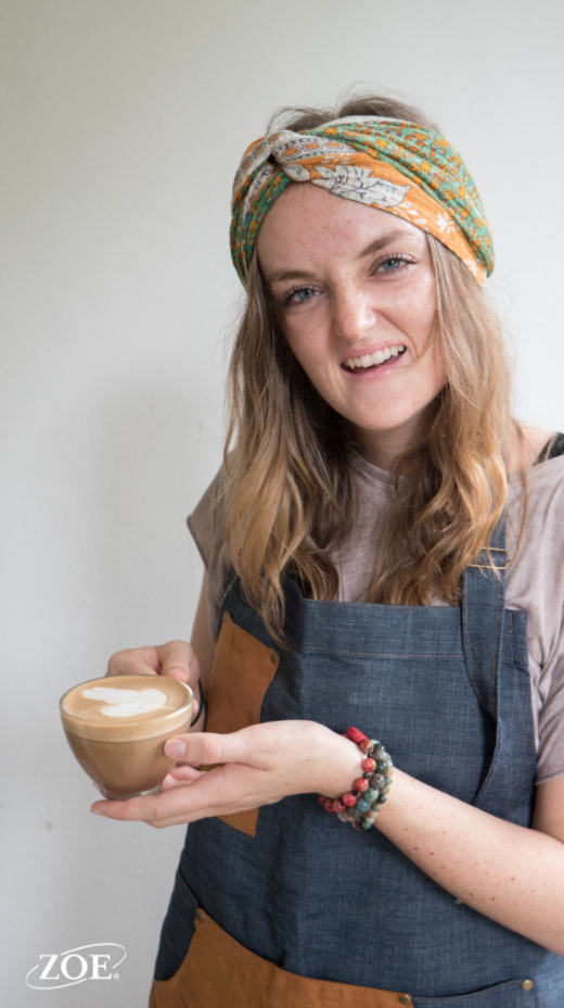 - Abigail has been working on steaming milk and latte art with her vocational student this month!