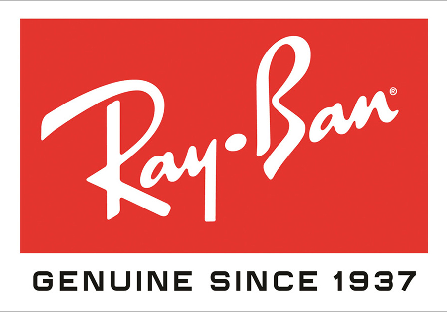 Ray Ban uses custom 'handwritten' type for their logo. It makes it unique and gives the brand a signature look. Having a font custom made or customised can be time consuming but worth it to make your brand unique.
