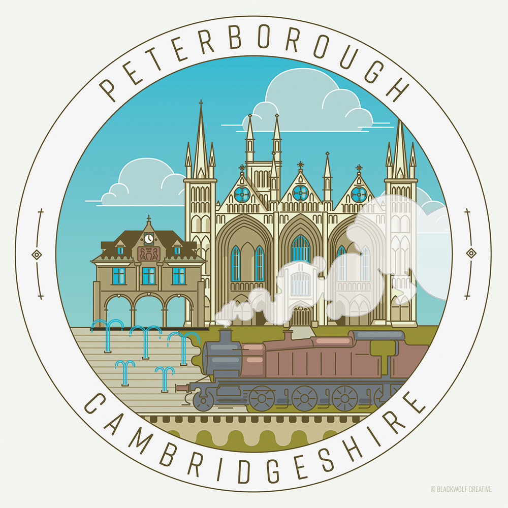 Peterborough City UK Illustration