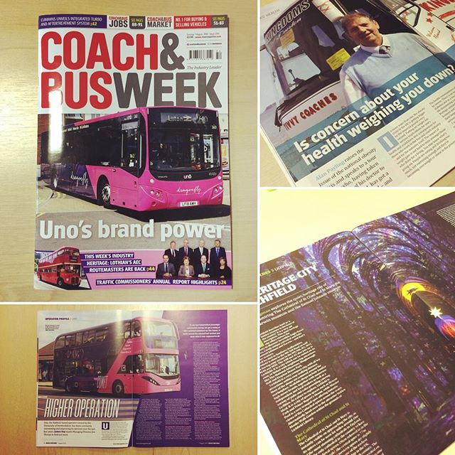 A very pink n purple issue of #coachandbusweek done this week! Particularly pleased with the main feature and should definitely stand out from the other mags on the shelf #magazine #magazinecover #layout #indesign #freelance #design #graphicdesign #designer #graphicdesigner #colour #editorial #page #coach #bus