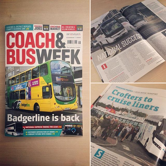 Colourful issue this week marred by a stupid advert for a film on the side of the bus! Can't be helped, but having 'kiss my ass' on the cover made me chuckle a bit! Sometime you just have to work with what you have. #coachandbusweek #advert #bus #coach #graphicdesign #freelance #design #indesign #designer #graphicdesigner #editorial #cover #magazine #layout #magazinedesign