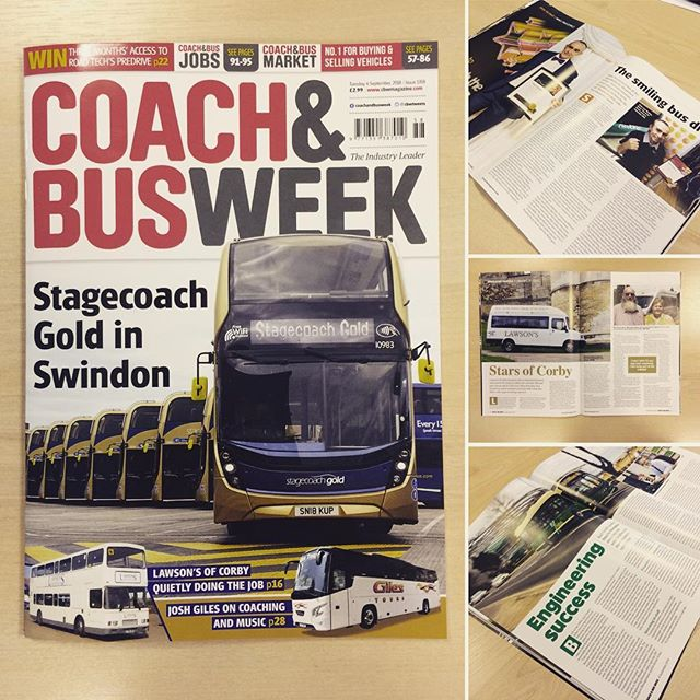 Issue 1359 of #coachandbusweek and really like the cover of this one! Helps to have a different composition of the main image and love having multiple subjects in the image too #coach #bus #design #graphicdesign #magazinedesign #graphicdesigner #designer #freelance #layout #editorial #magazine