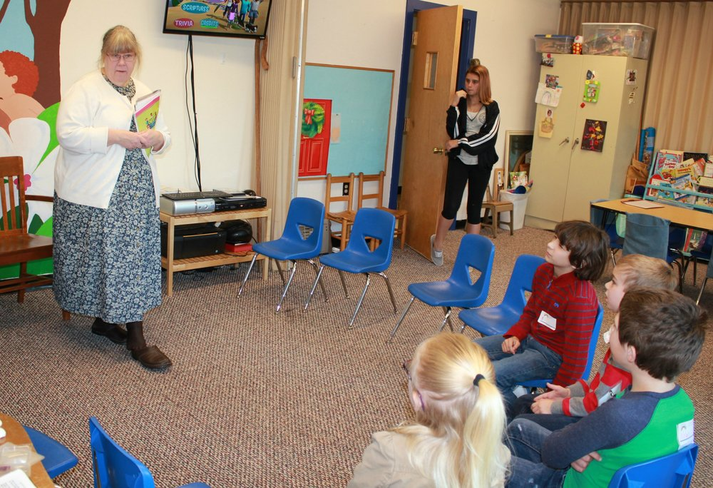 Miss Charlotte's K-2nd grade class.