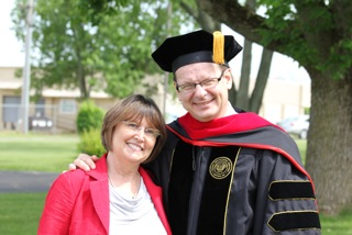 With wife, Mary Lynn, upon receiving Doctor of Ministry degree in 2013.
