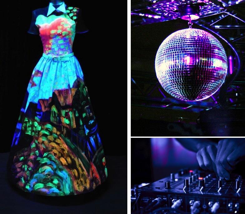 Fantasy Friday Night Club Wedding Glow In The Dark Style