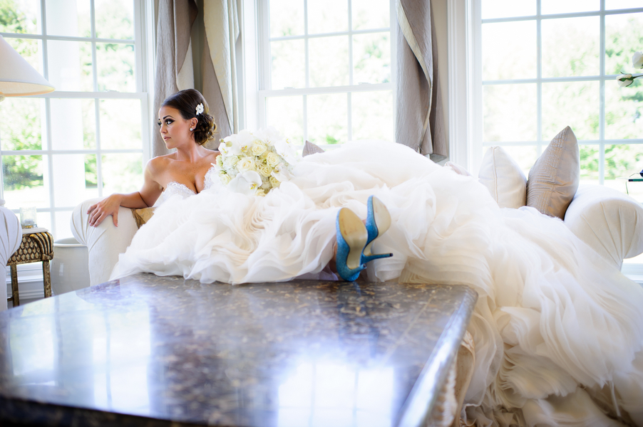 Real Wedding Wednesday ~ A Spectacular Wedding Dress, A Pink ...