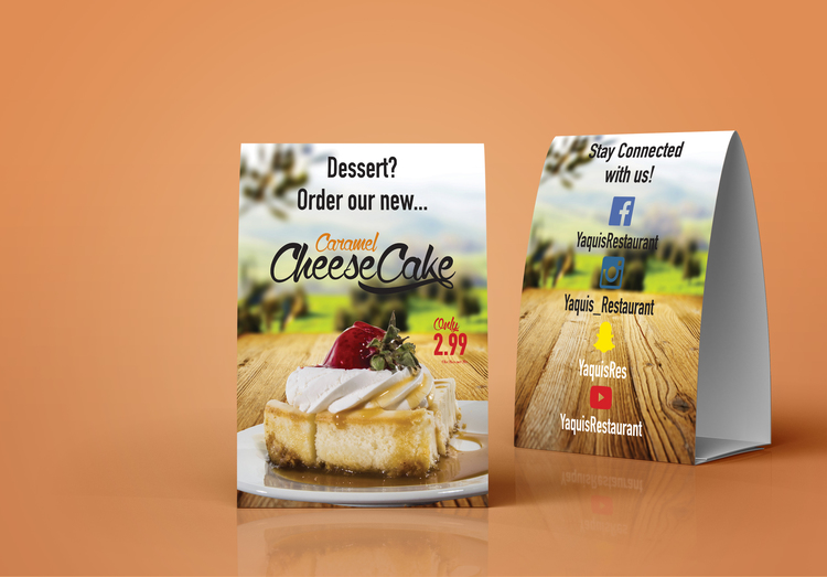 Dessert Table Tent MoroGraphics - Create table tents