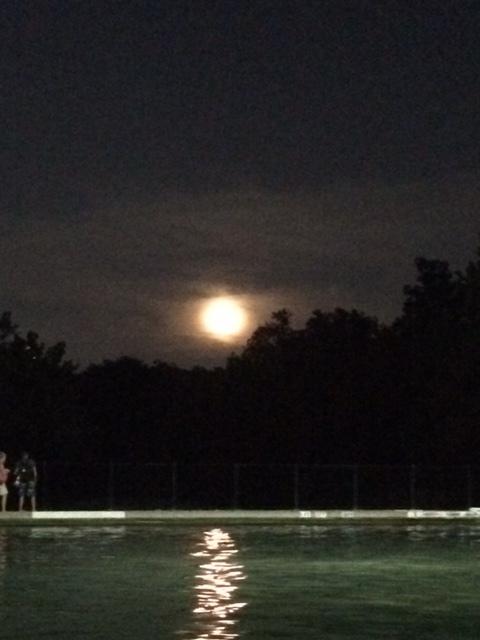 Full moon at Barton Springs