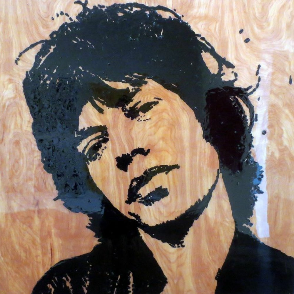 Mick 48V x 48H in. stain - enamel - resin on wood