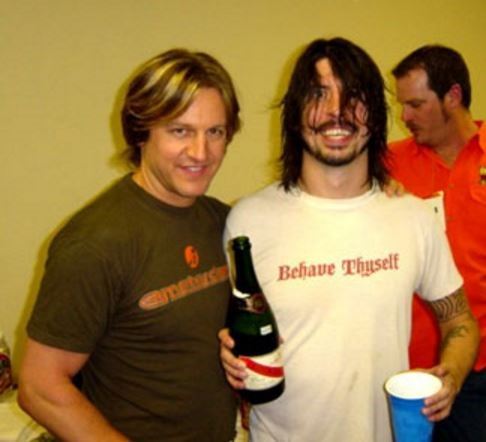 Dave Grohl backstage Dallas TX