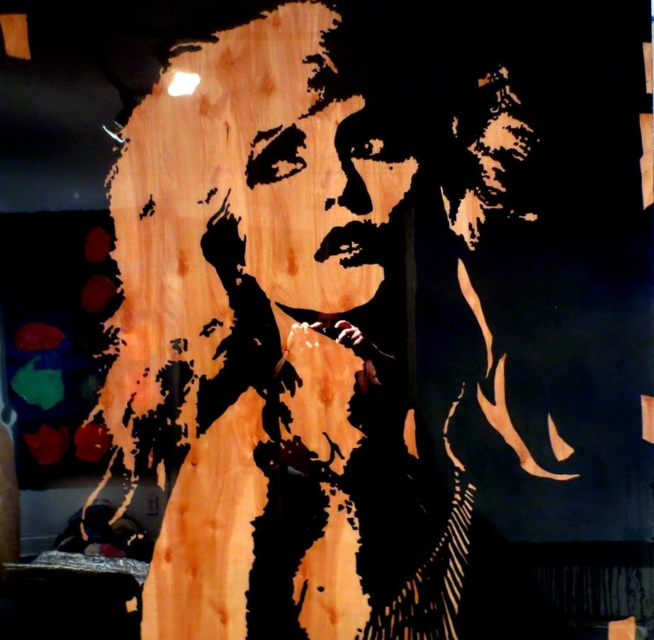 Debbie 48V x 48H in. stain - enamel - resin on wood