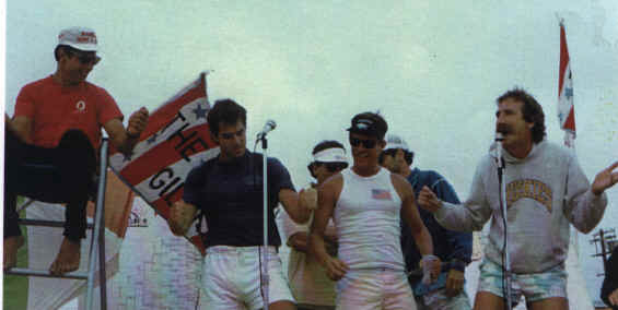 Chris Chavez, Geyer, JJ and Turley during the finals - 1984