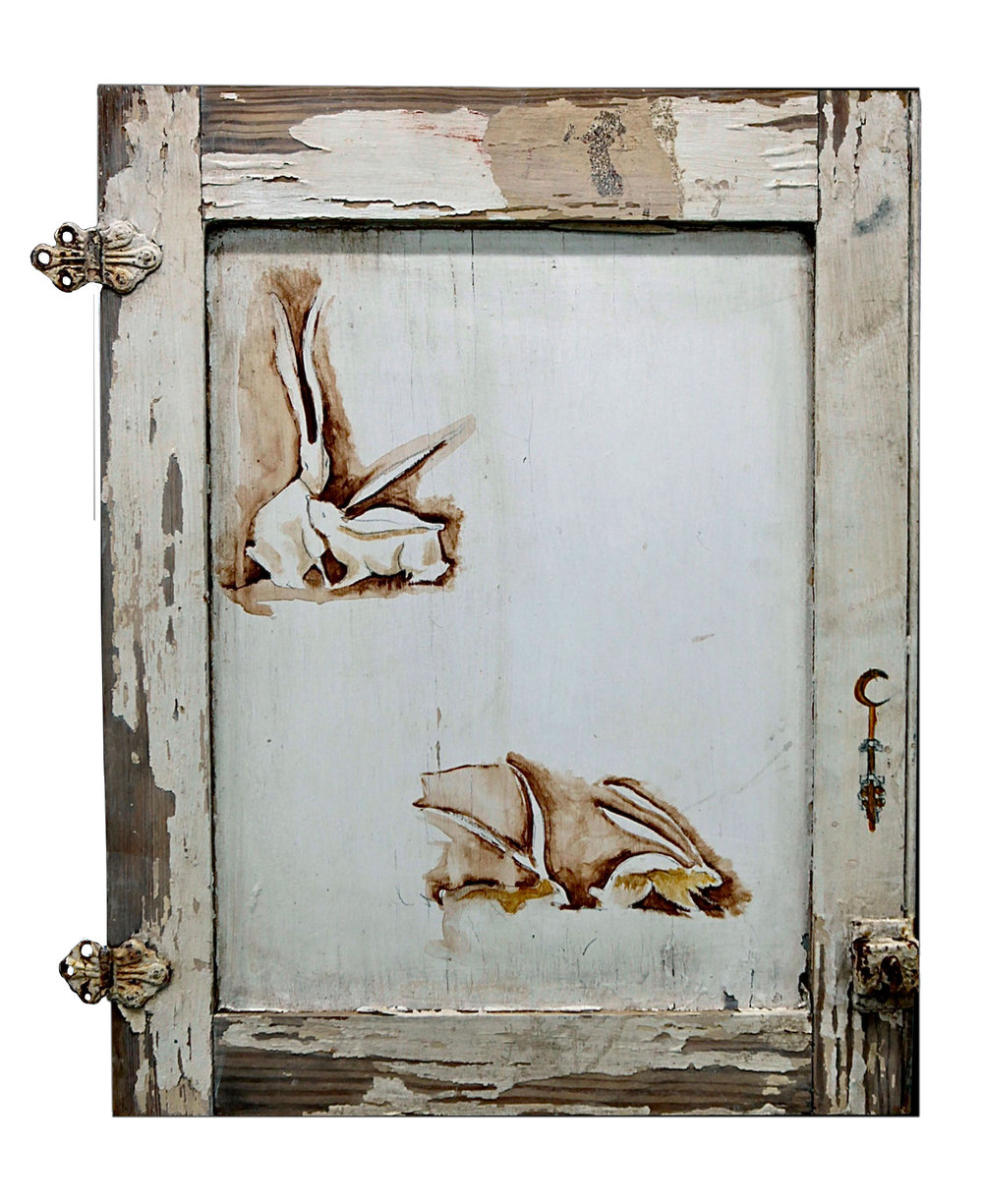 Cabinet Rabbits, White