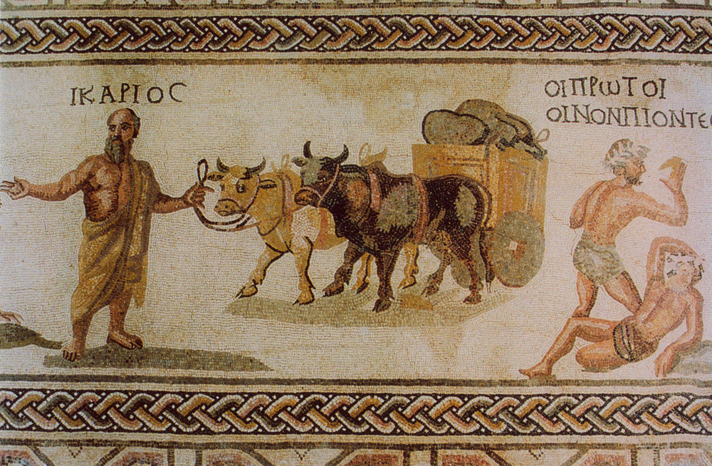 Image courtesy of Wikimedia Commons | Mosaic in Cyprus dating back to the Roman Empire