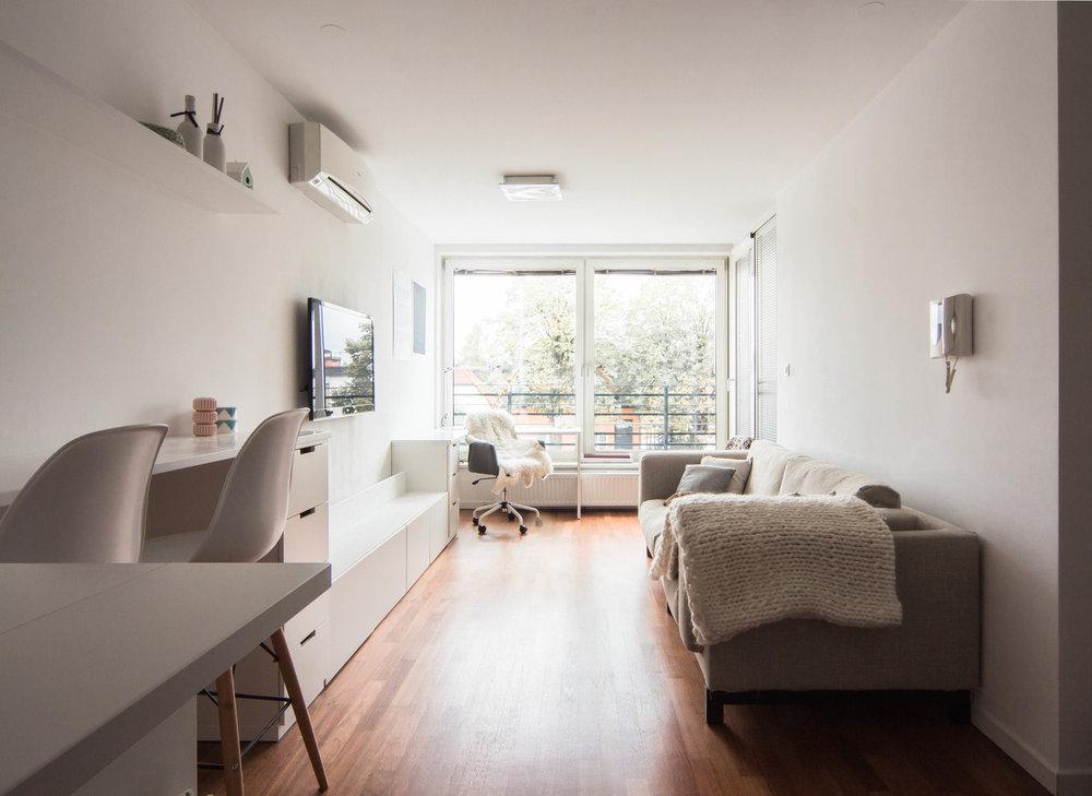 scandinavian style minimalistic living room