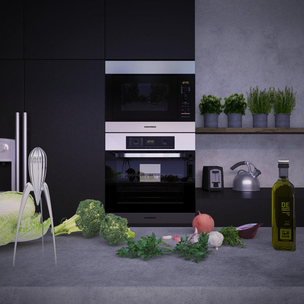 Kuhinja Grundig - Preoblikovanje ladijskega kontejnerja v degustacijsko kuhinjo